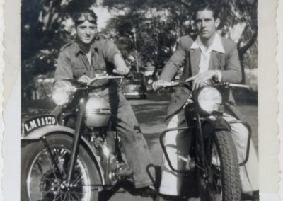 Grandfather (at left) with friend