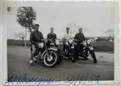Augusto with bikers