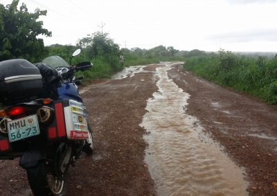 Flooded road to Mocuba