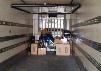 Bike arriving to Maputo after 2 months