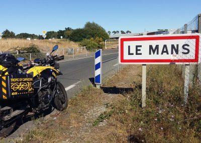 Arriving at Le Mans, France
