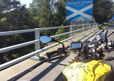 Arriving at Scotland