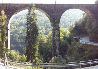 Viaducts and curvy roads
