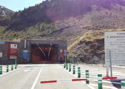 Crossing the tunnel from France to Spain
