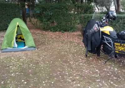 Camping at Cabo Ortegal, Spain