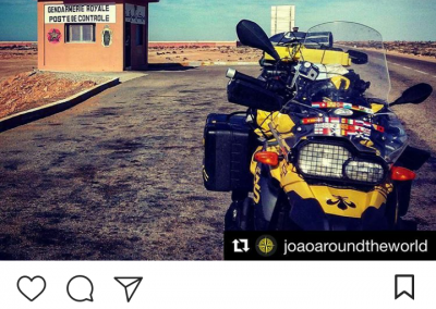 Overland Magazine Instagram about the Police Control in Morocco