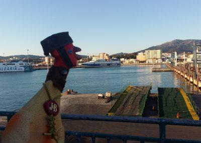 Crossing to Ceuta on a mini Titanic