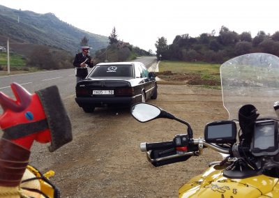 Getting a speed ticket in Morocco