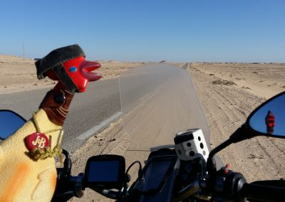 In the desert, waiting for the gas man