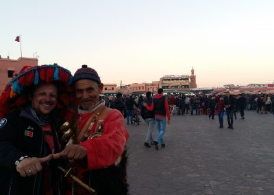 With the waterman from Marrakech Central Square