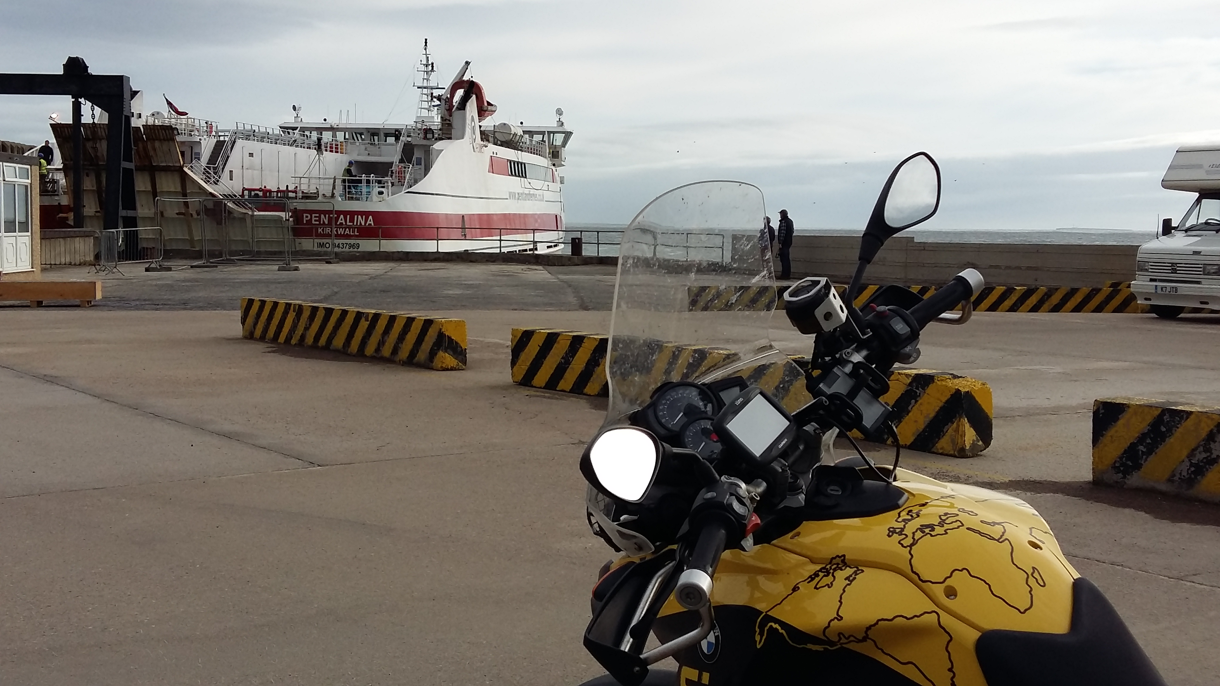 Waiting for Pentalina Ferry to Orkney
