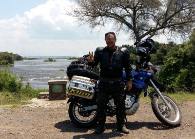At the land mark of River Zambezi