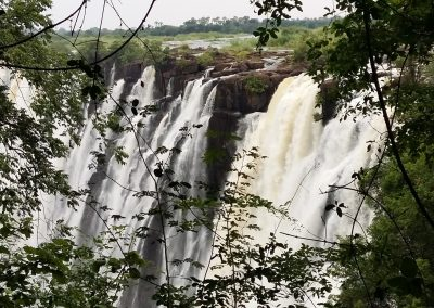 First glance of Victoria Falls