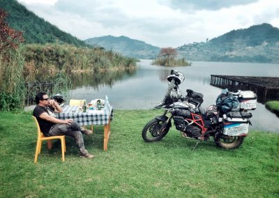Relax moment at Lake Bunyonyi